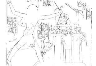 Description: Relief: Beit el-Wali, Ramses II, around 1301–1234 B.C.E. (Keel 1978:102)