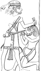Description: Ivory: Ugarit, around 1400–1350 B.C.E. (Keel 1978:296)