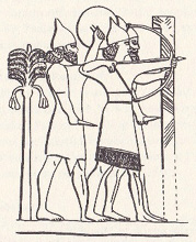 Description: Relief from the palace of Nimrud, from the period of Tiglath-pileser, around the 8th century B.C.E. (Hossfeld & Zenger, 2005:101)